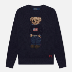 Женский свитер Polo Ralph Lauren Bear USA Flag Navy/Multicolor
