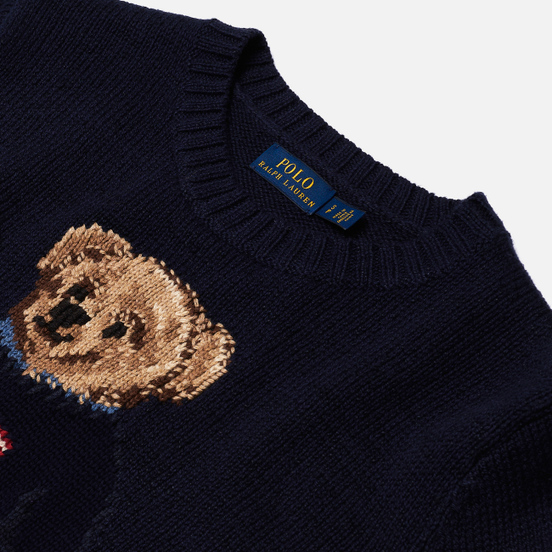 Женский свитер Polo Ralph Lauren Bear USA Flag Navy/Multicolor