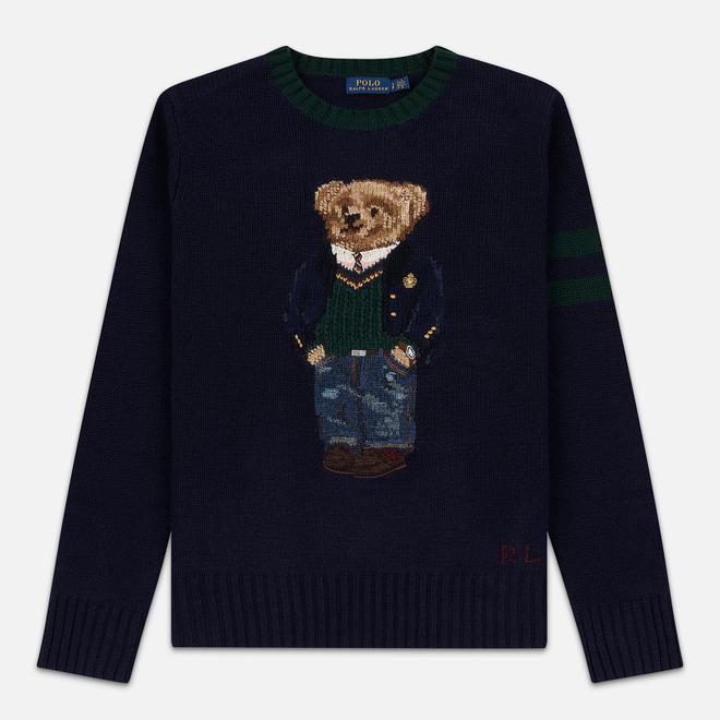Женский свитер Polo Ralph Lauren Preppy Bear Wool Blend Navy/Multicolor