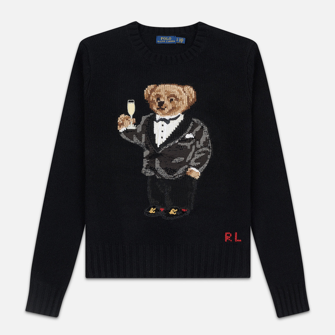 Женский свитер Polo Ralph Lauren Suit Bear Wool Black