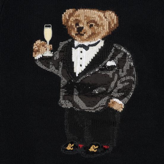 Женский свитер Polo Ralph Lauren Suit Bear Wool Black