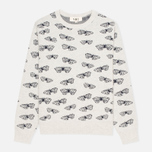 Женский свитер YMC Butterfly Crew Neck Dark Grey/Navy фото- 0