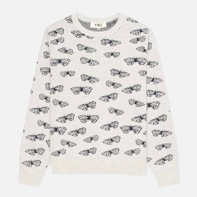 Женский свитер YMC Butterfly Crew Neck Dark Grey/Navy