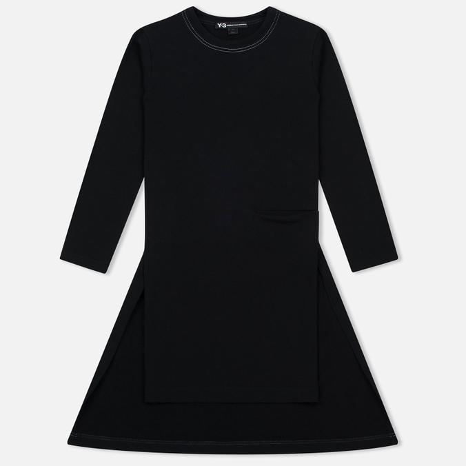 Женское платье осоо техноткань черное с молнией