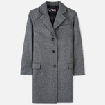 Gloverall Chesterfield Lined Women's Coat Grey Marl photo- 0