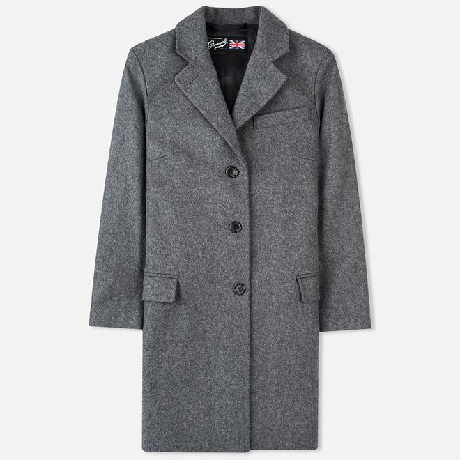 Женское пальто Gloverall Chesterfield Lined Grey Marl