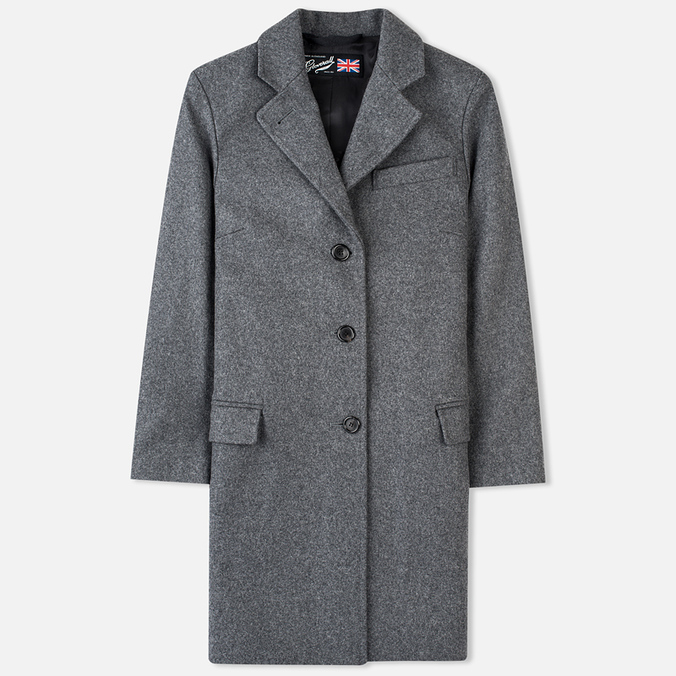 Gloverall Chesterfield Lined Women's Coat Grey Marl