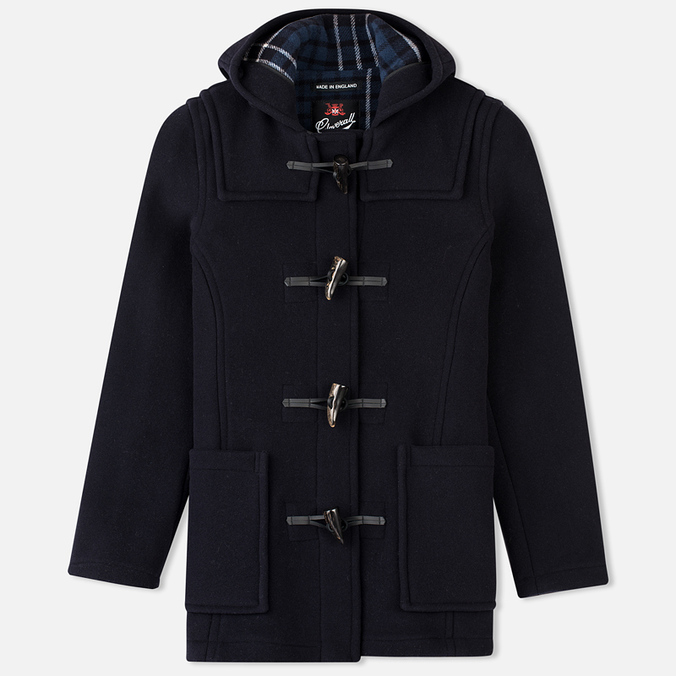 Gloverall Fitted Panel Women's Coat Navy