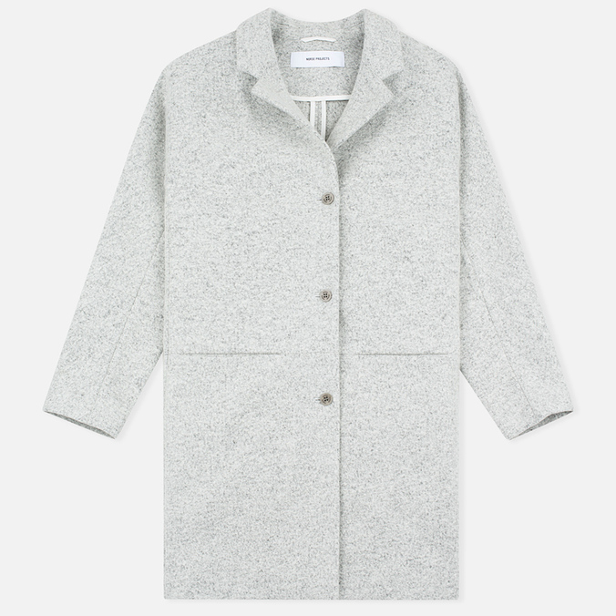 Женское пальто Norse Projects Agnes Light Felt Light Grey Melange