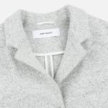 Norse Projects Agnes Light Felt Light Women's Coat Grey Melange photo- 2