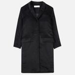 Norse Projects Aud Hairy Mix Women's Coat Black photo- 0
