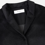 Norse Projects Aud Hairy Mix Women's Coat Black photo- 2