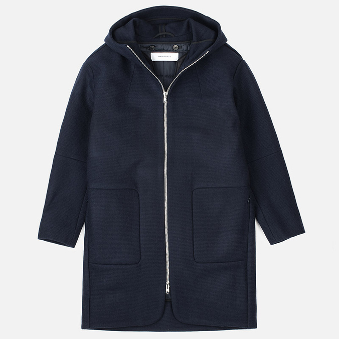 Женское пальто Norse Projects Signe Felt Dark Navy Melange