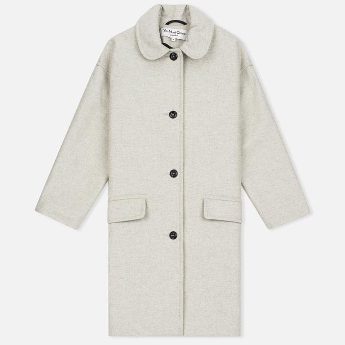 Женское пальто YMC Neoprene Wool Off White
