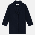 Женское пальто YMC Raw Edge Wool Navy фото- 0