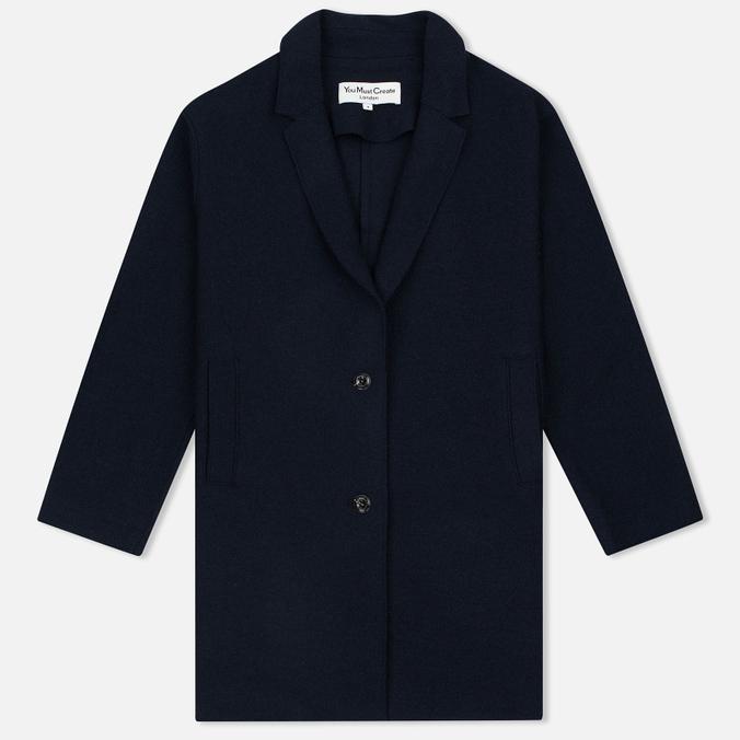 Женское пальто YMC Raw Edge Wool Navy
