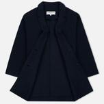 Женское пальто YMC Raw Edge Wool Navy фото- 1