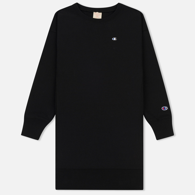 Женское платье Champion Reverse Weave Logo Embroidered Jersey Black