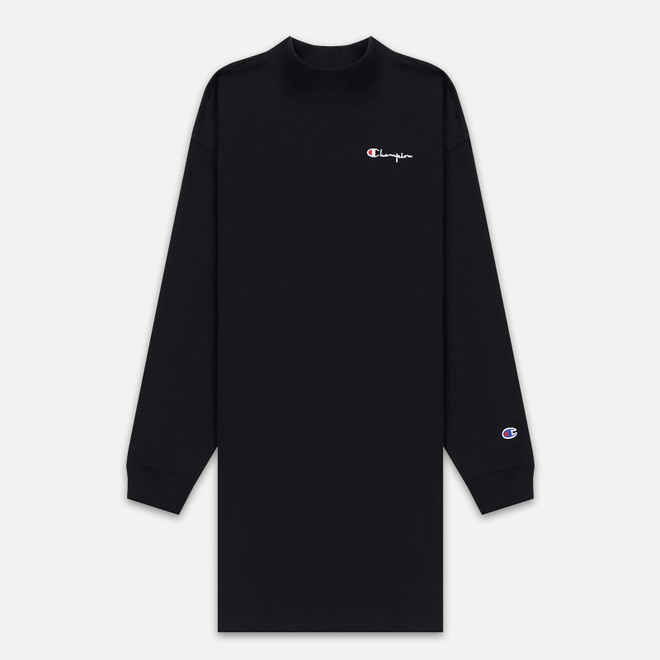 Женское платье Champion Reverse Weave Small Script Oversize Black
