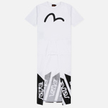 Evisu Embossed Seagull Women's Dress White photo- 0