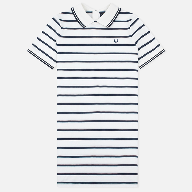Женское платье Fred Perry Flat Knit Stripe Snow White