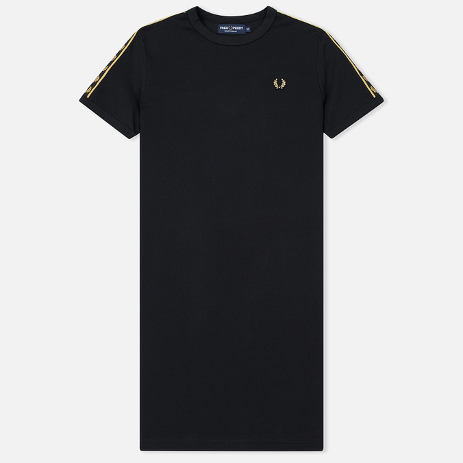 Женское платье Fred Perry Laurel Sports Authentic Taped Ringer Black