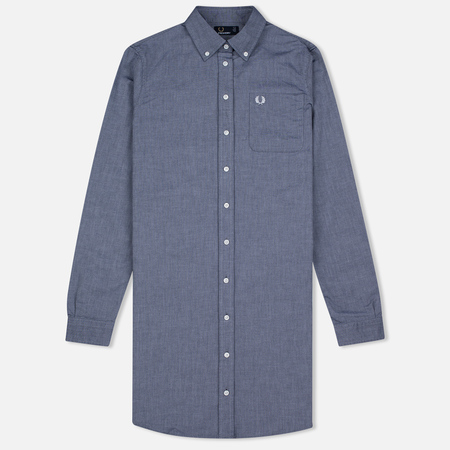 Женское платье Fred Perry Oxford Shirtdress Carbon Blue