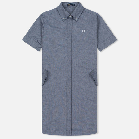 Женское платье Fred Perry Parka Detail Shirt Carbon Blue