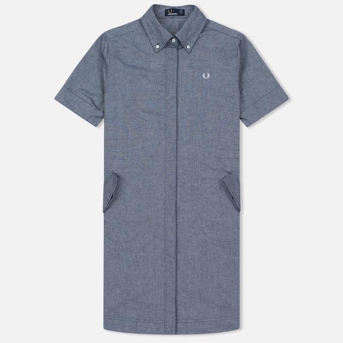 Женское платье Fred Perry Parka Detail Shirt Carbon Blue