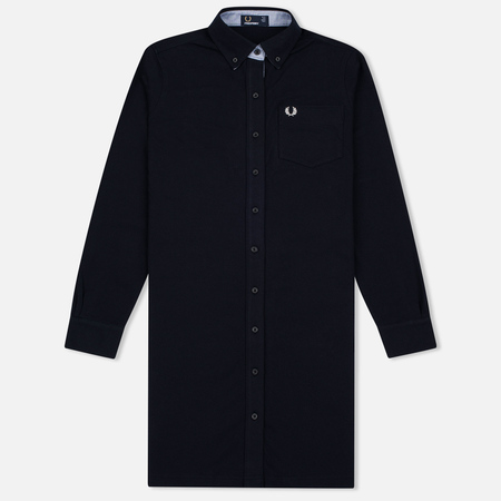 Женское платье Fred Perry Pique Boyfriend Fit Shirtdress Navy