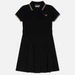 Женское платье Fred Perry Reissues Pleated Pique Tennis Black/Champagne/Champagne фото- 0