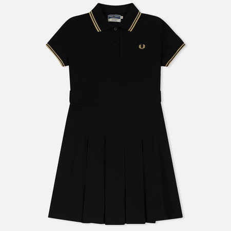 Женское платье Fred Perry Reissues Pleated Pique Tennis Black/Champagne/Champagne