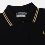 Женское платье Fred Perry Reissues Pleated Pique Tennis Black/Champagne/Champagne фото- 1