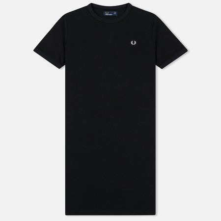 Женское платье Fred Perry Ringer Embroidered Logo Black
