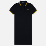 Fred Perry Twin Tipped Women's Dress Black/Yellow photo- 0