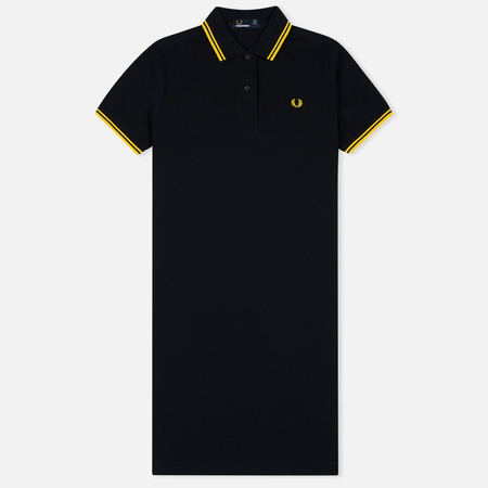 Женское платье Fred Perry Twin Tipped Black/Yellow