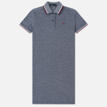 Женское платье Fred Perry Twin Tipped White/Carbon Blue Oxford фото- 0