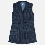 Женское платье Gant Rugger Sleeveless Pinstriped Yankee Blue фото- 0