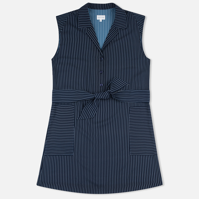 Женское платье Gant Rugger Sleeveless Pinstriped Yankee Blue