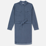 Женское платье Lacoste Denim Chest Pocket Twill Shirt Blue фото- 0