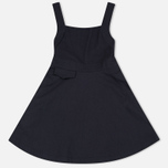 Женское платье Maison Kitsune Abre Cotton Pinafore Black фото- 0