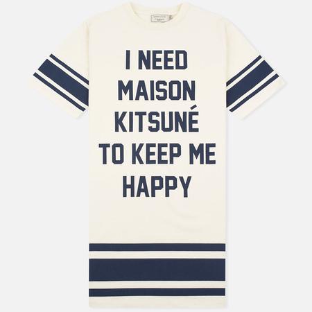 Maison Kitsune I Need Women's Dress Ecru