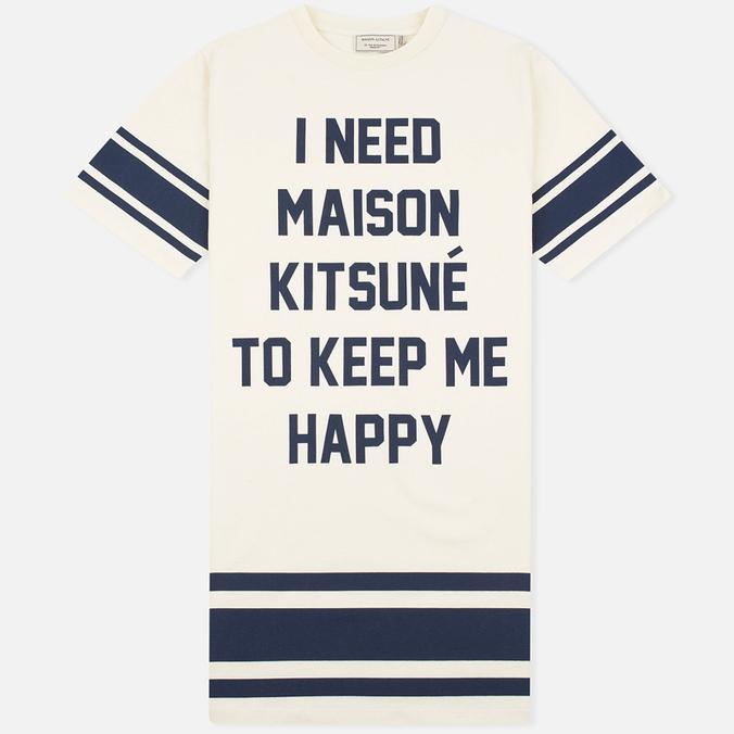 Женское платье Maison Kitsune I Need Ecru