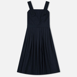 Женское платье Maison Kitsune Iris Open Back Long Dark Navy фото- 0