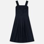 Maison Kitsune Iris Open Back Long Women's Dress Dark Navy photo- 0