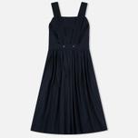 Maison Kitsune Iris Open Back Long Women's Dress Dark Navy photo- 1