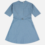 Maison Kitsune Jade Loose Cut Women's Dress Chambray photo- 0