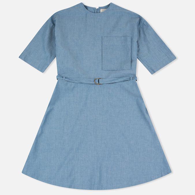 Maison Kitsune Jade Loose Cut Women's Dress Chambray