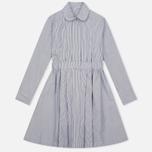 Женское платье Maison Kitsune Oxford Thin Stripes Pleated Black Stripes фото- 0