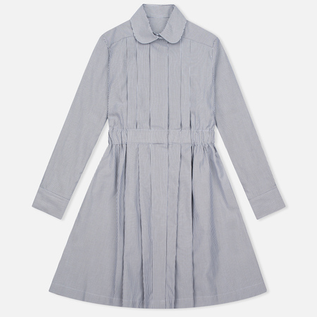 Женское платье Maison Kitsune Oxford Thin Stripes Pleated Black Stripes